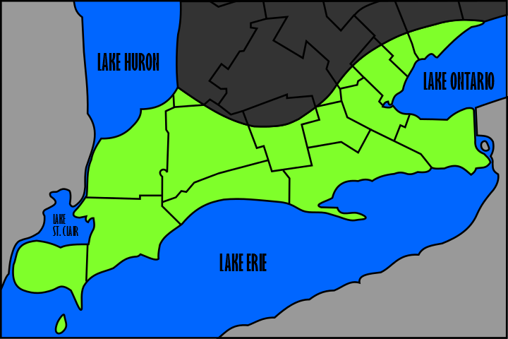Carolinian Canada Coalition map